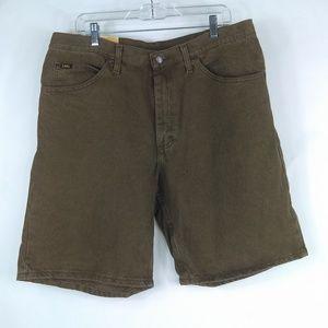 Lee Denim Shorts Flat Front 5 Pocket Zipper